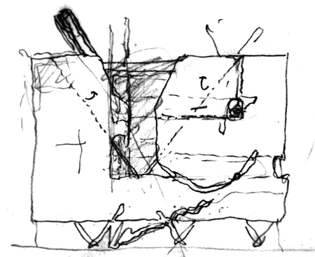 100% pre-schematic sketch by Thom Mayne