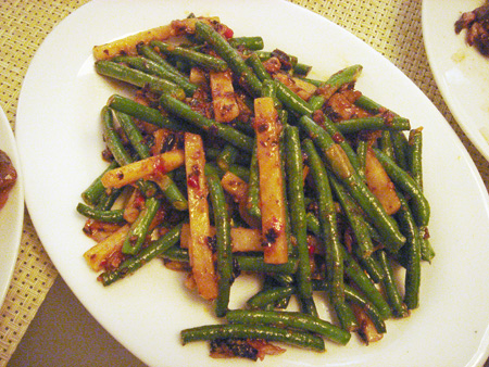 Chinese Long Beans with Black Bean Sauce