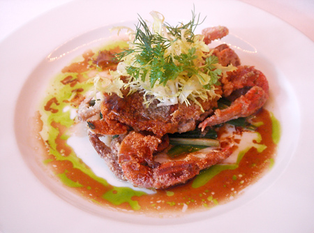 Almond Crusted Soft Shall Crab @ Wallse