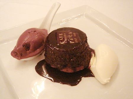 Mohr im Hemd Chocolate Hazelnut Cake Mr Pralus Chocolate Sorbet @ Wallse