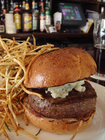 Chargrilled Burger with Roquefort Cheese