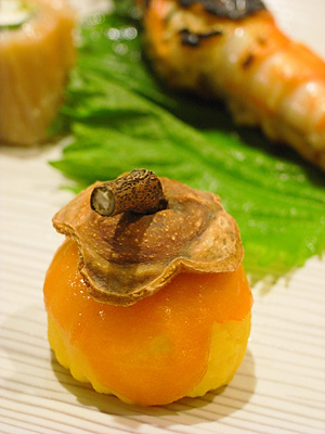salmon-wrapped egg-yolk