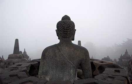 Misty Morning at Borobudur